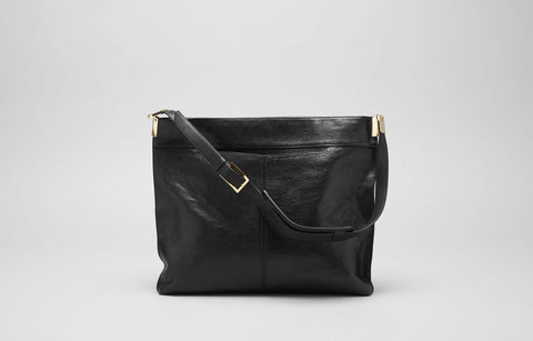 LOREN HOBO BAG - BLACK GLAZE