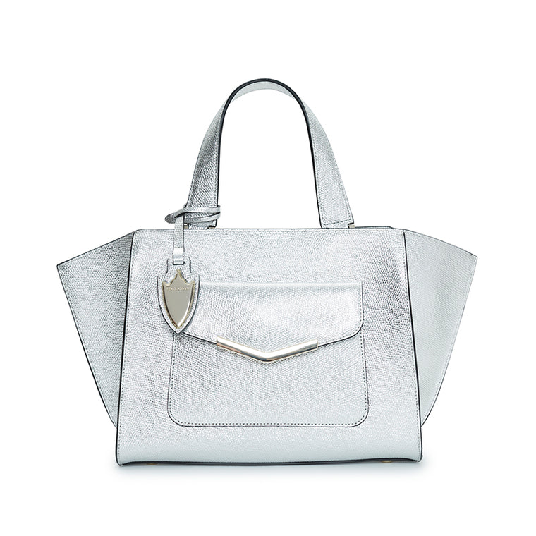 Paige Mini Tote Chrome