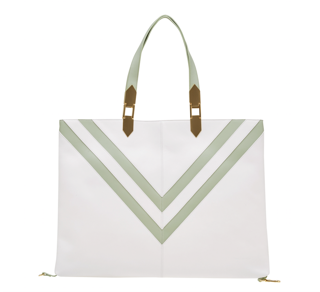 VELA HOOK SHOPPING BAG IVORY/QUARTZ