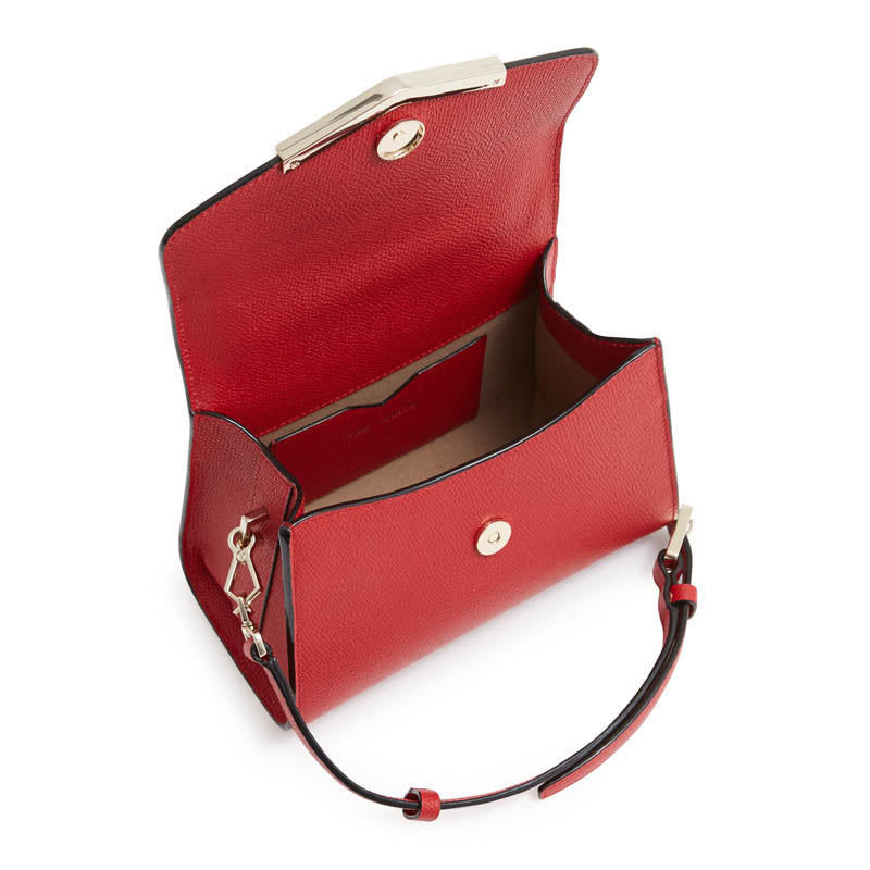 Ava Mini Satchel in Cherry Red