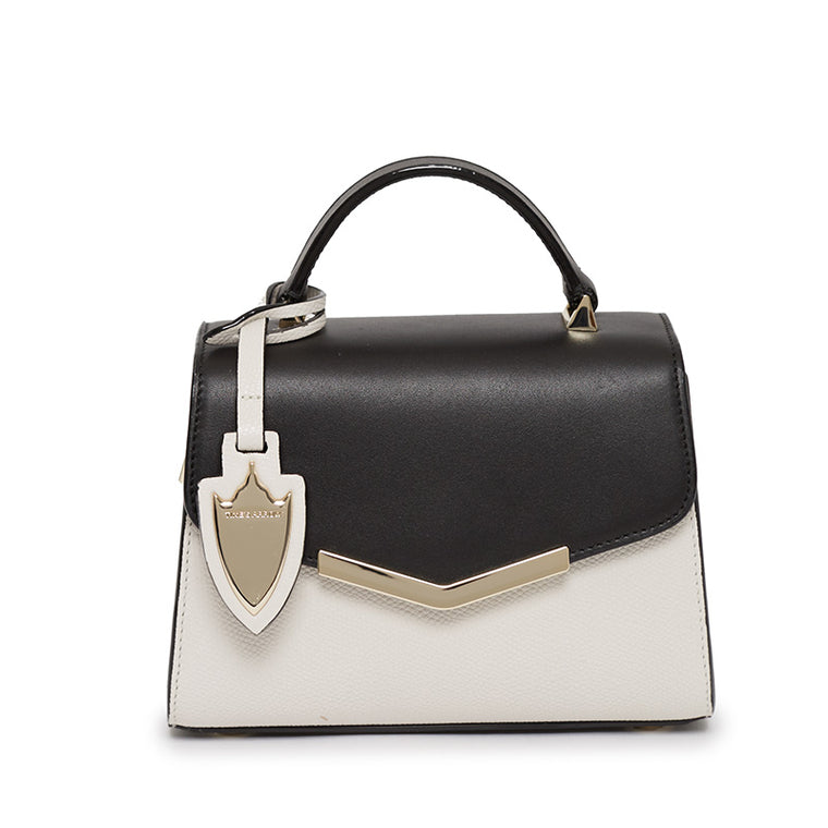 Ava Mini Satchel in Bowery Black/Socialite White