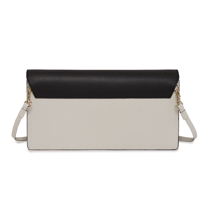 Demi Clutch in Bowery Black/Socialite White