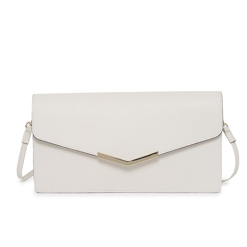 Demi Clutch in Socialite White
