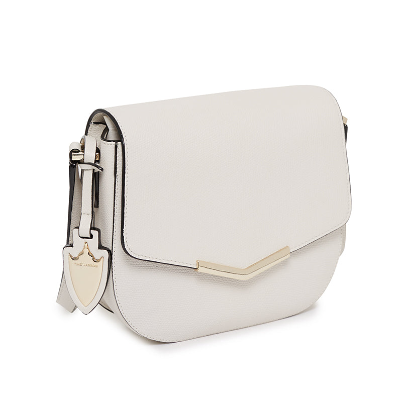 Skyler Saddle Bag in Socialite White