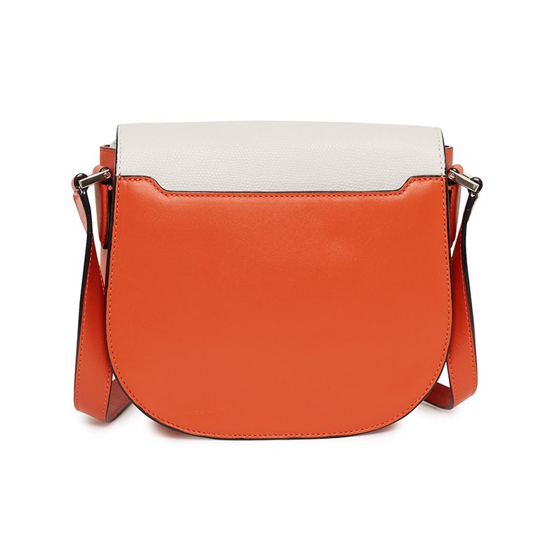 Skyler Saddle Bag in Socialite White/Santa Monica Sunset