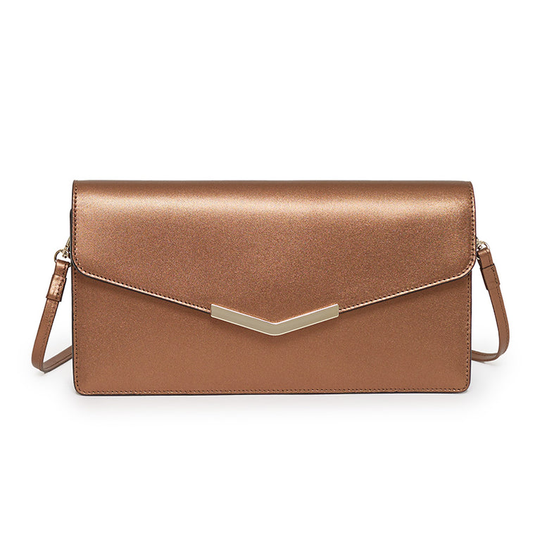Demi Clutch in Malibu Bronze