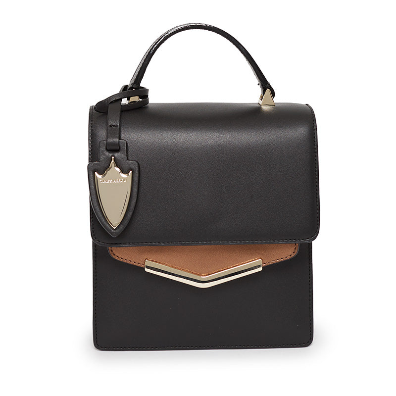 Mia Crossbody in Bowery Black/Malibu Bronze