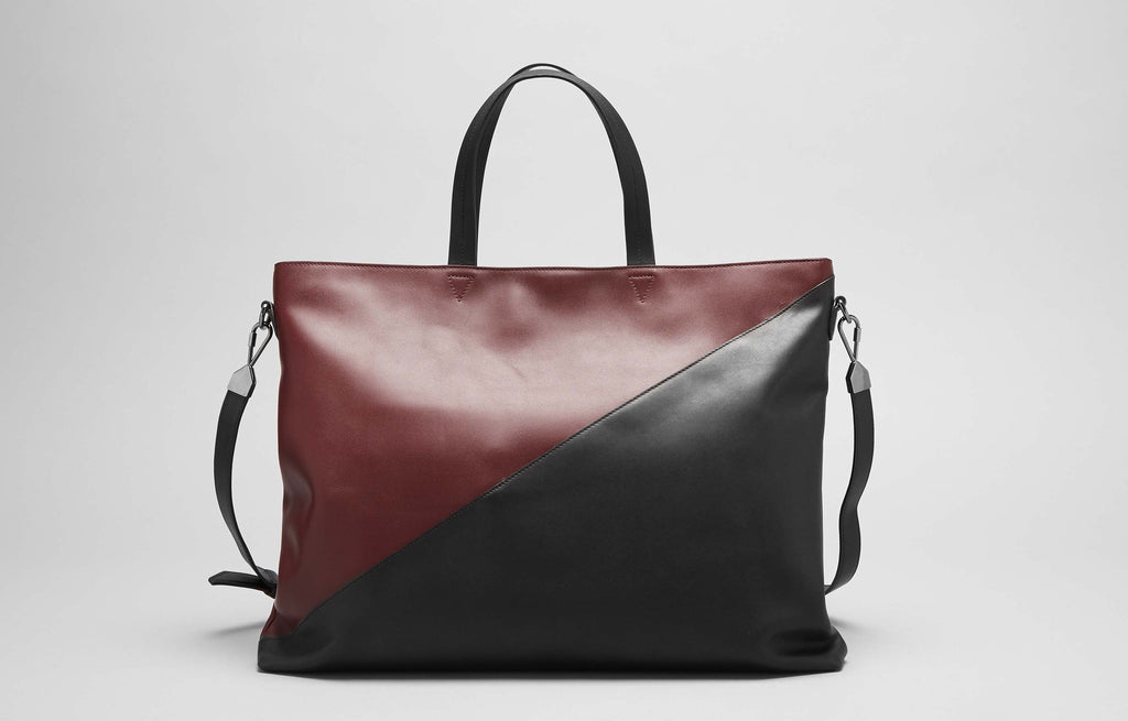 INFINITE SATCHEL - BURGUNDY/BLACK