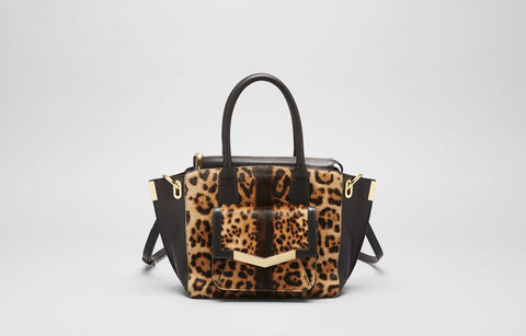 MINI JO TOTE - LEOPARD HAIRCALF