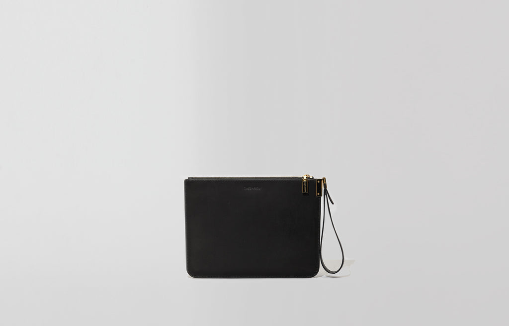 Ishi Small Wristlet - Bone/Black