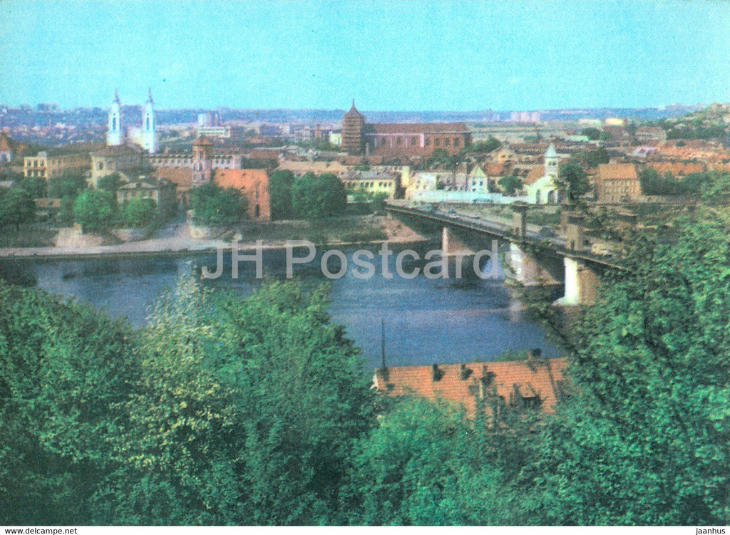 Kaunas - Bridge over the Nemunas river in the Old Town - 1982 - Lithuania USSR - unused - JH Postcards