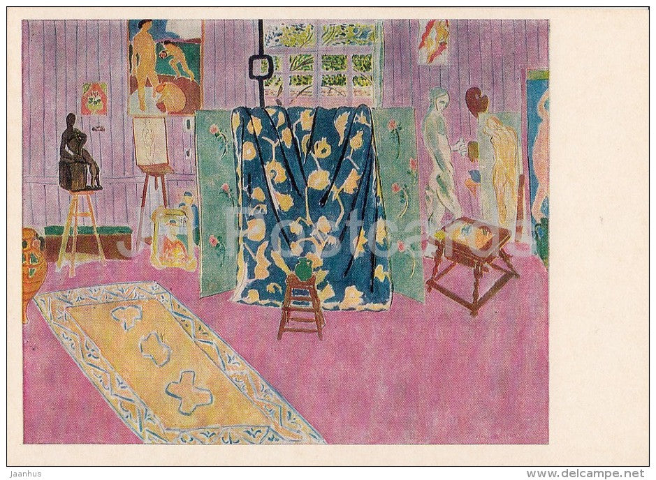 painting by Henri Matisse - Artist's Workshop , 1911 - French art - 1973 - Russia USSR - unused - JH Postcards