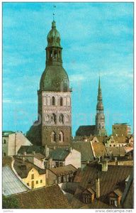View of Old Riga - 1 - Old Town - Riga - 1974 - Latvia USSR - unused - JH Postcards