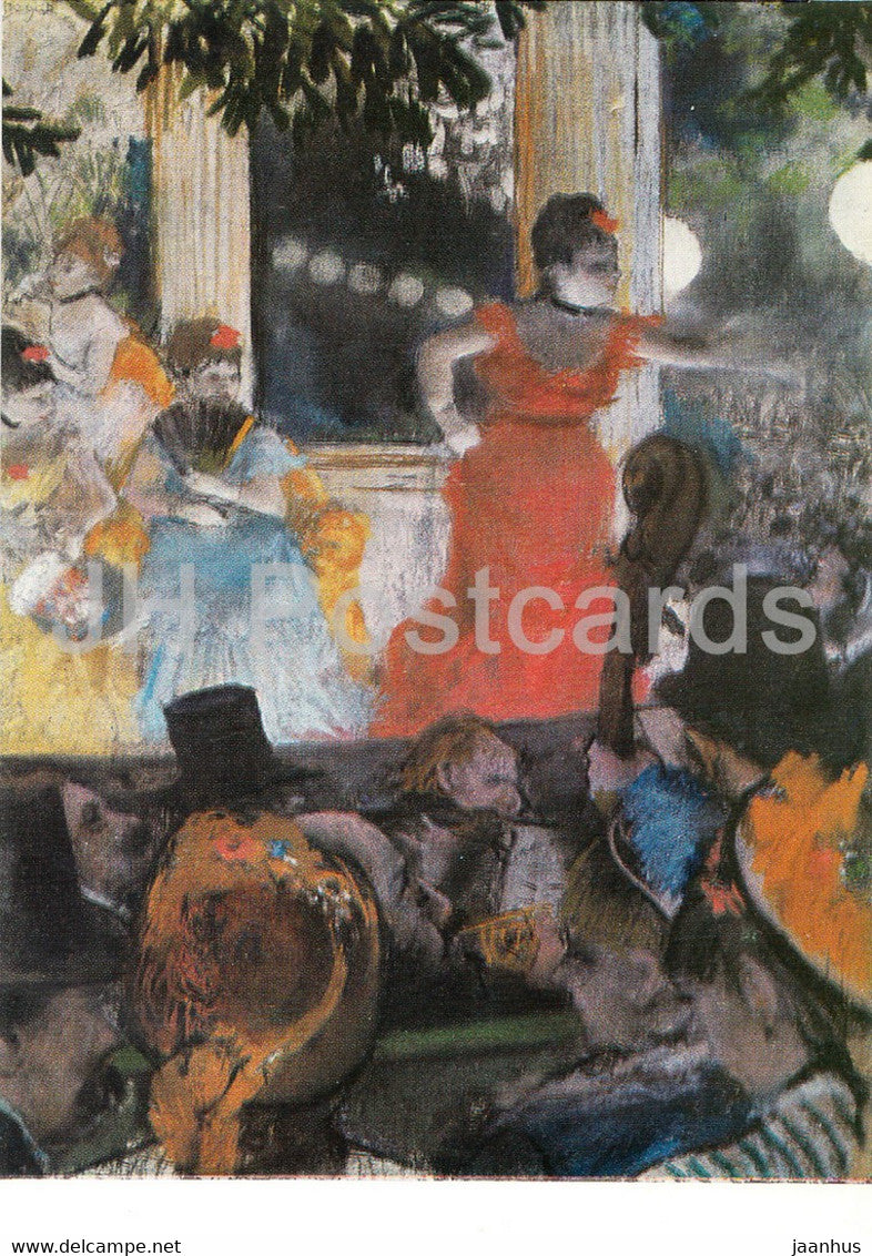painting by Edgar Degas - Konzertcafe - cafe - French art - Germany DDR - unused - JH Postcards