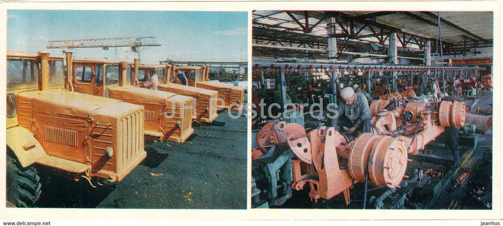 Kostanay - At the agricultural machinery repair plant - tractor - 1985 - Kazakhstan USSR - unused - JH Postcards