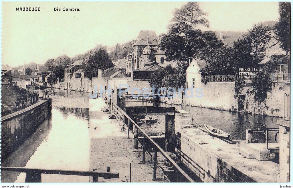 Maubeuge - Die Sambre - old postcard - France - unused - JH Postcards