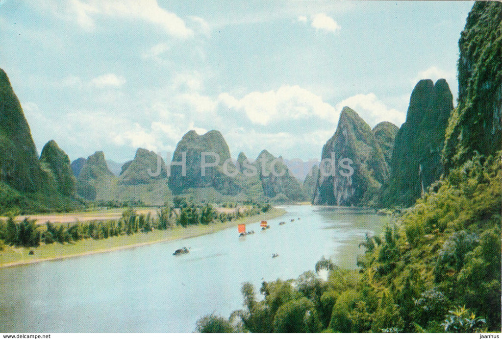 Kweilin - Guilin - Likiang river - 1973 - China - unused