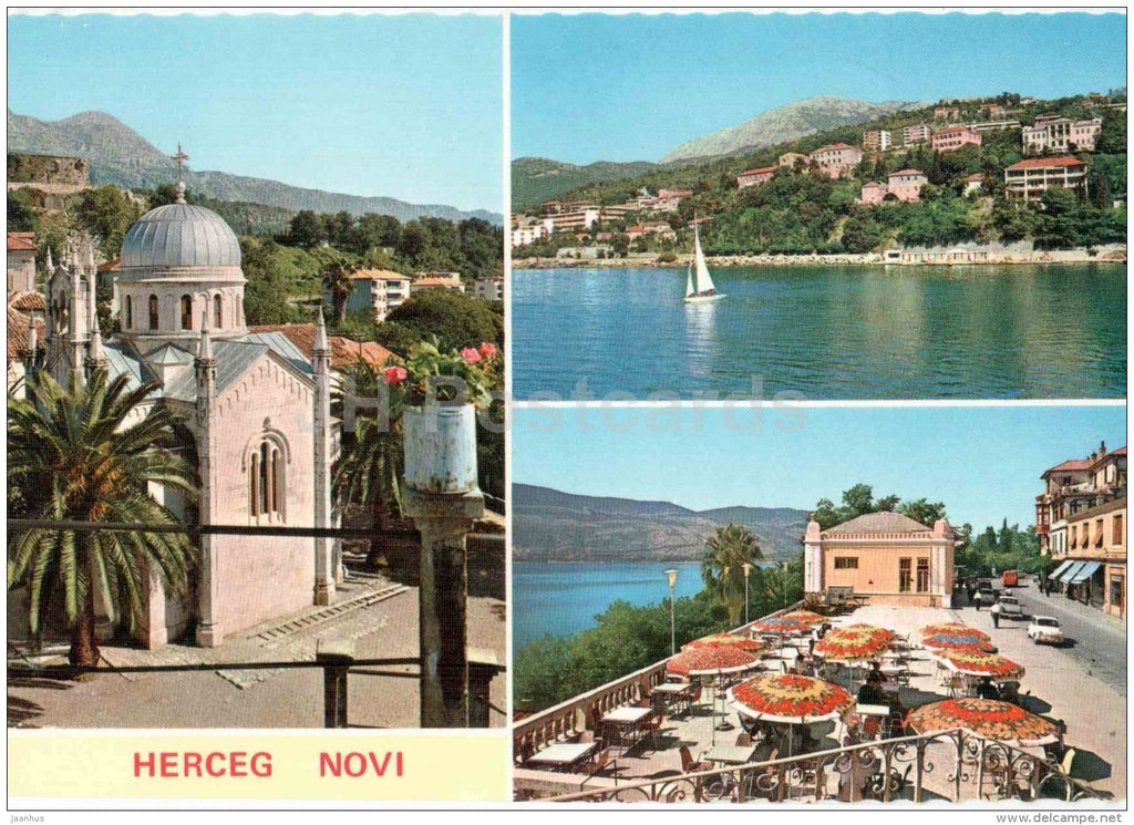 church - Herceg Novi - 1353 - Montenegro - Yugoslavia - unused - JH Postcards