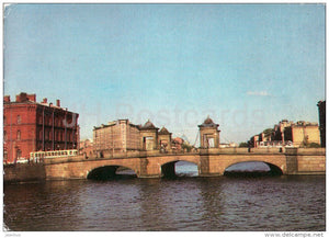 Staro-Kalininsky Bridge - Leningrad - St. Petersburg - postal stationery - 1972 - Russia USSR - unused - JH Postcards