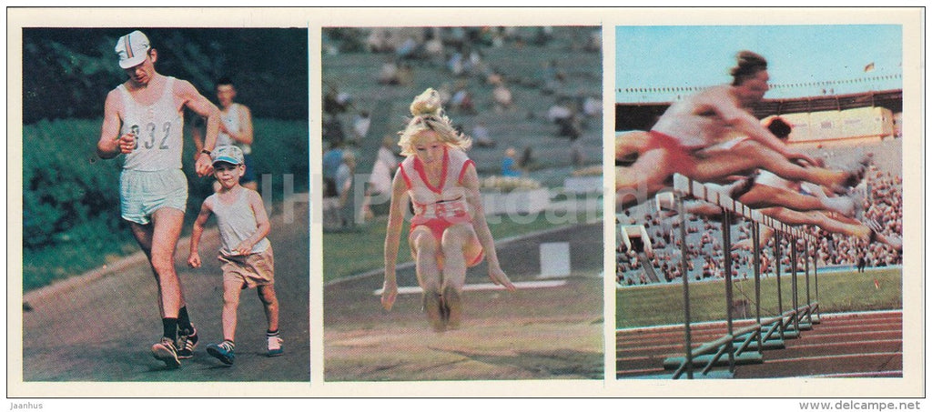 walking - long jump - hurdles - public sport - Olympic Venues - 1978 - Russia USSR - unused - JH Postcards
