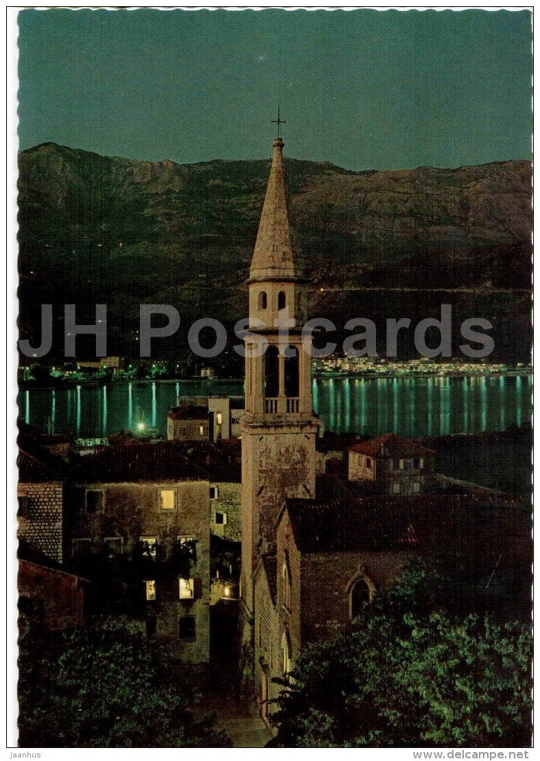 church - Budva - 418 - Montenegro - Yugoslavia - unused - JH Postcards