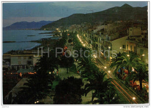 Lungomare , Notturno - Loano - Savona - Liguria - Italia - Italy - sent from Italy to Germany 1971 - JH Postcards