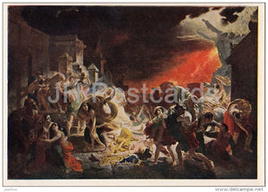 painting by K. Bryullov - The last day of Pompeii , 1830-33 - Russian art - 1954 - Russia USSR - unused - JH Postcards
