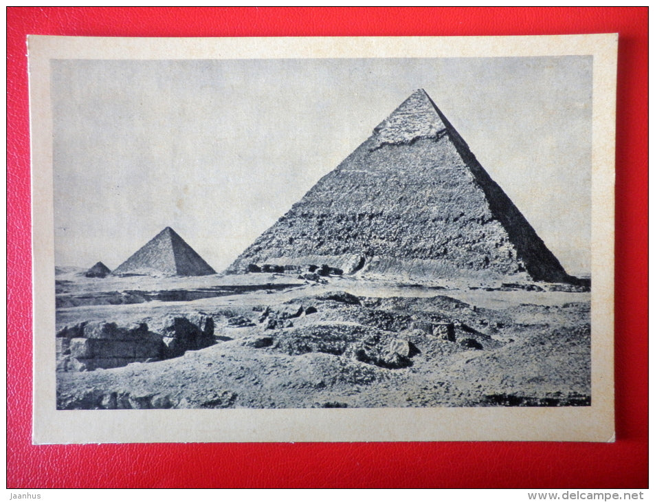Pyramids of Giza , III Millennium BC - Egypt - Architecture of Ancient East - 1964 - Russia USSR - unused - JH Postcards