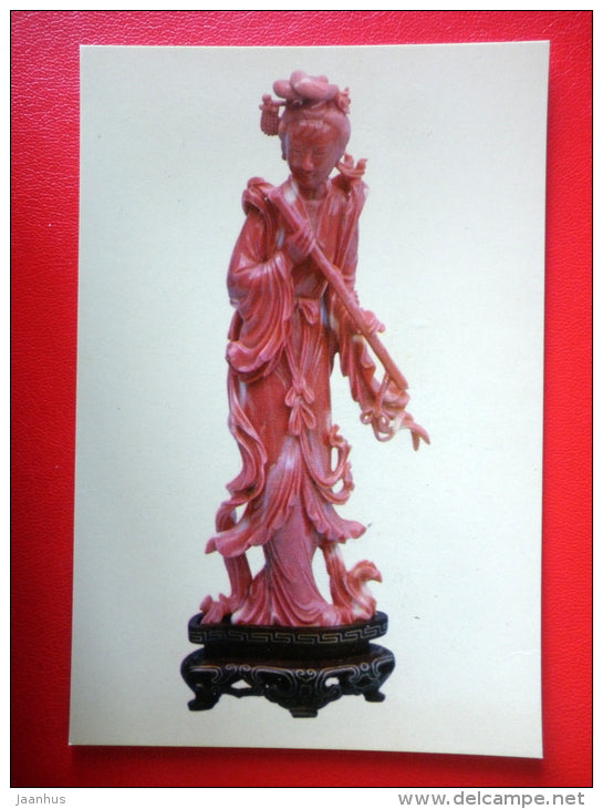 Coral Figure of a Woman - Chinese Art and Crafts - 1965 - People`s Republic of China - unused - JH Postcards