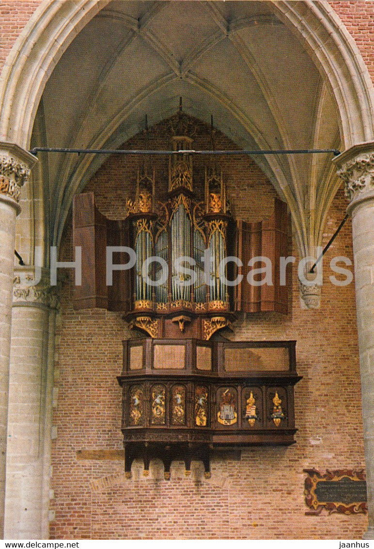 Alkmaar - Grote Kerk - Kleine Orgel - church - organ - Netherlands - unused - JH Postcards