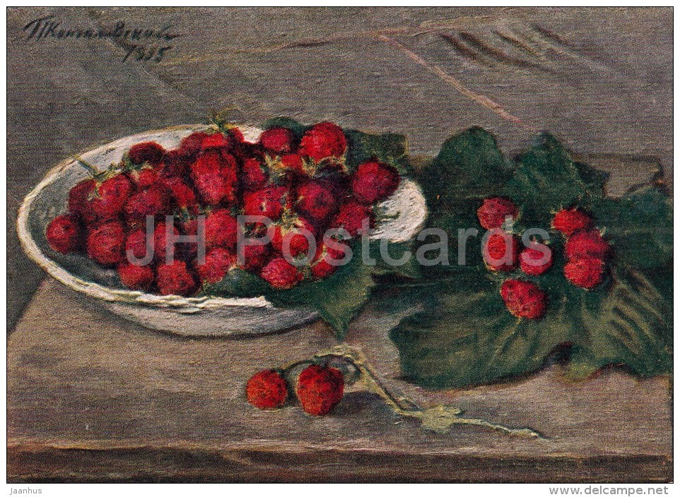 painting by P. Konchalovsky - Strawberry - Russian art - 1958 - Russia USSR - unused - JH Postcards