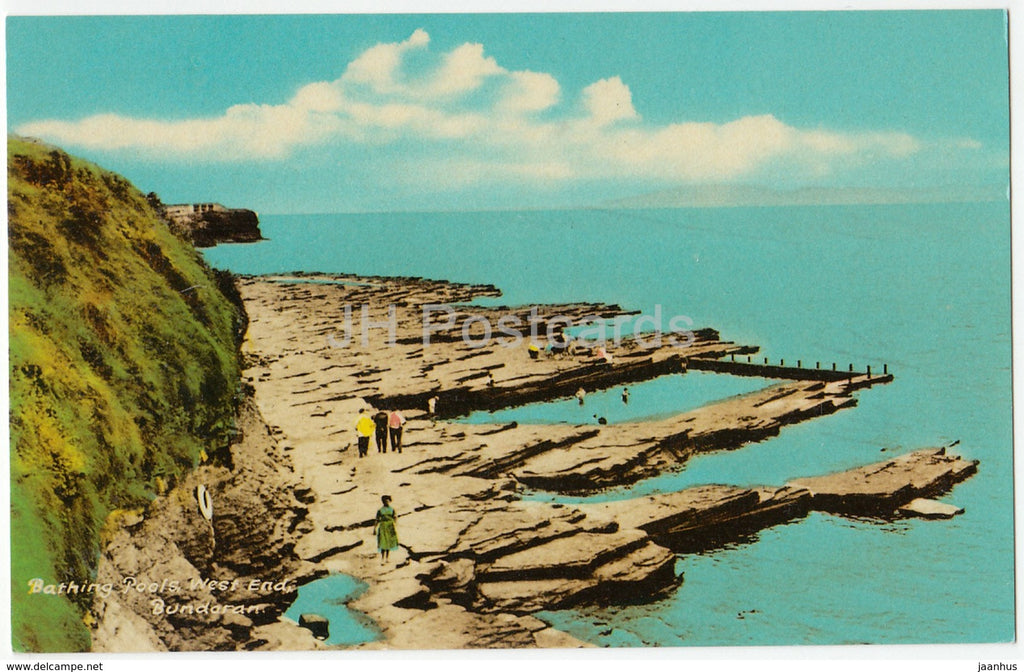 Bundoran - Bathing Pools - West End - Ireland - used - JH Postcards