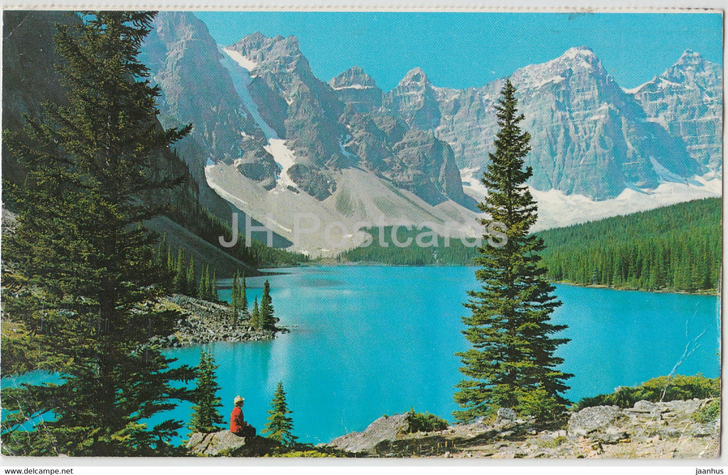 Canadian Rockies - Moraine Lake - 1976 - Canada - used - JH Postcards