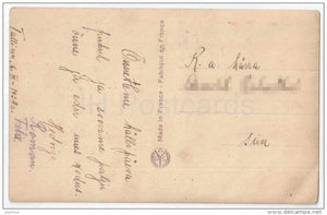 woman - harp - NOYER 4486 - circulated in Estonia 1934 - JH Postcards