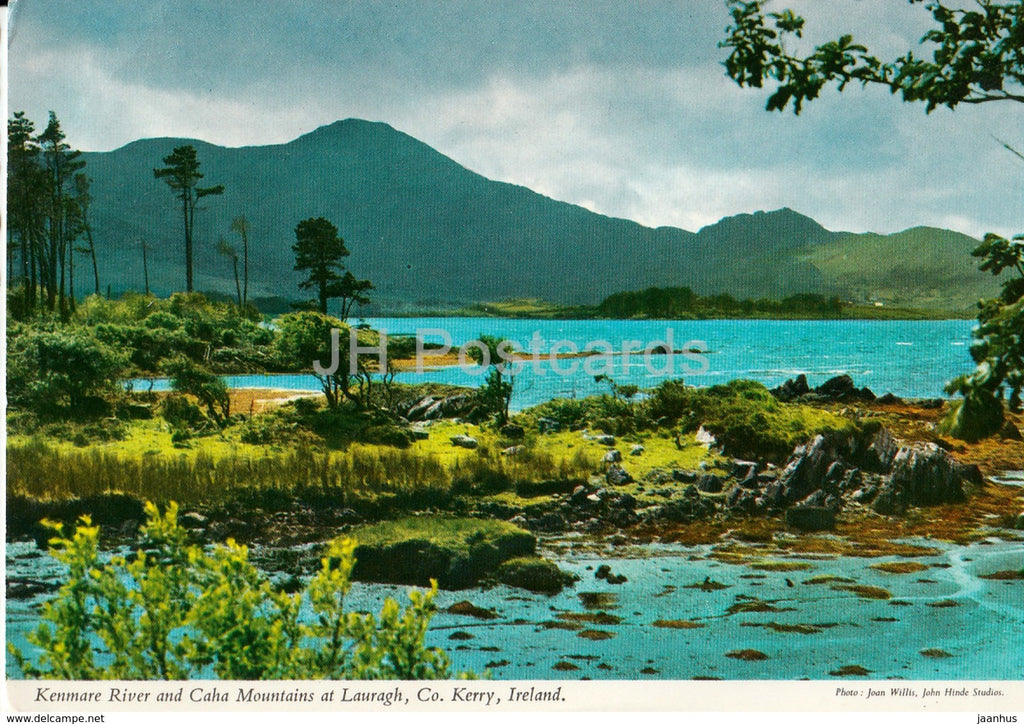 Kenmare river and Caha Mountains at Lauragh - 1984 - Ireland - used - JH Postcards