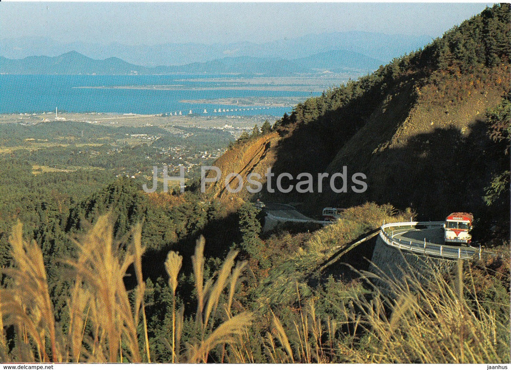 Kyoto - Mt Hiei Drive Way - bus - Japan - unused - JH Postcards