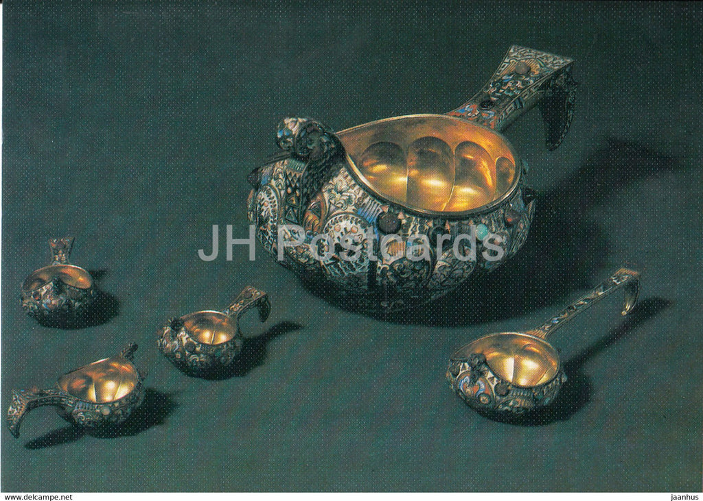 Ladle - Moscow - Russian Silver Craft - art - 1986 - Russia USSR - used - JH Postcards