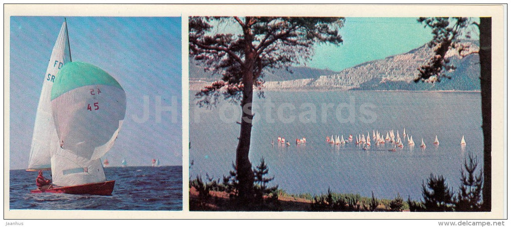 yachting races - sailing - Olympic Venues - 1978 - Russia USSR - unused - JH Postcards