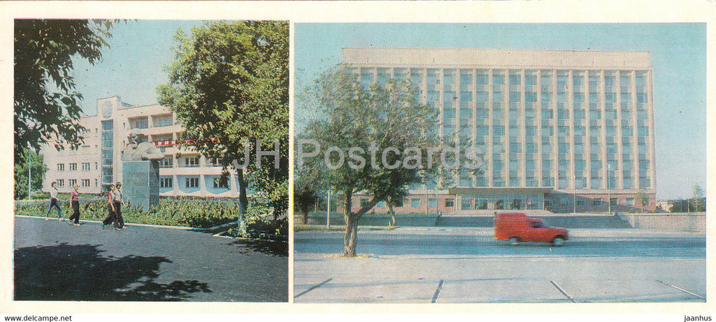 Kostanay - Altynsarin Middle School - Building of the Regional Committee of the Party - 1985 - Kazakhstan USSR - unused - JH Postcards