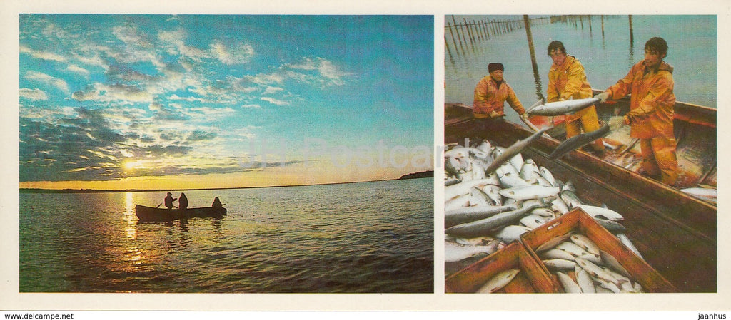 Fishing - fishermen - Komi Republic - 1984 - Russia USSR - unused - JH Postcards