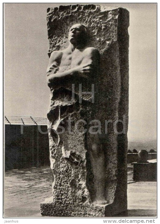sculpture by V. Tsigal - monument to general G. Karbyshev - Mauthausen . Austria - art - unused - JH Postcards