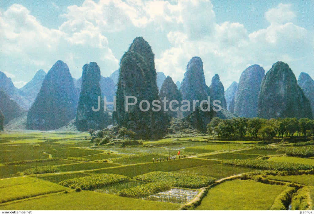 Kweilin - Guilin - Needle like peaks - 1973 - China - unused