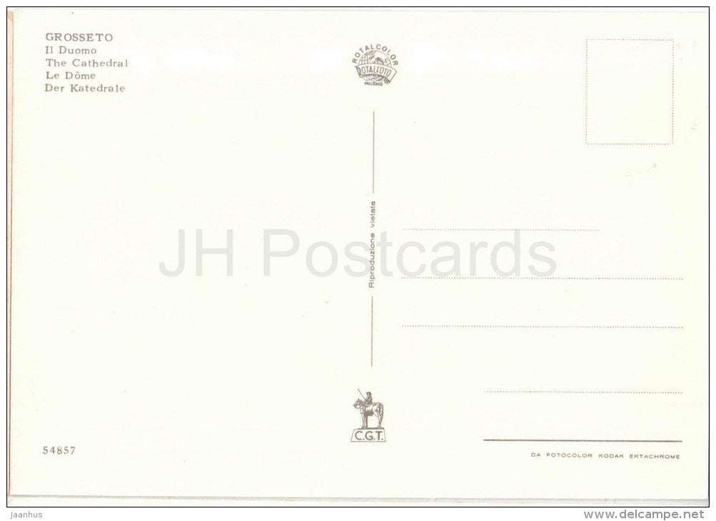 Il Duomo - cathedral - Grosseto - Toscana - 54857 - Italia - Italy - unused - JH Postcards