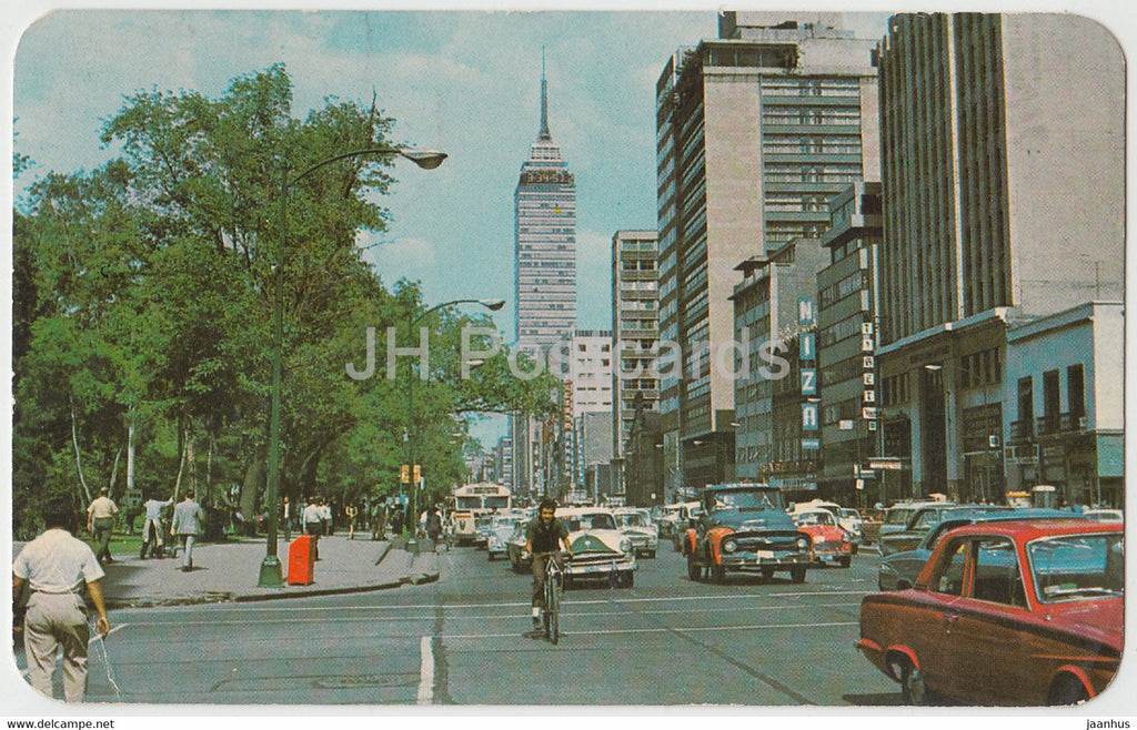 Ave Juares Mexico - The Broadway of Mexico City - car - Mexico - used - JH Postcards