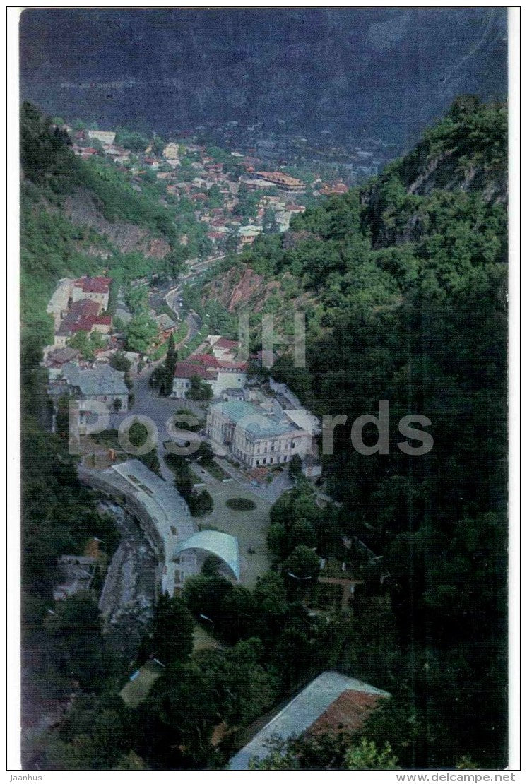 valley - views of Georgia - Borjomi - 1971 - Georgia USSR - unused - JH Postcards