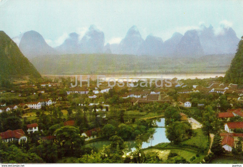 Kweilin - Guilin - Yangshuo in a drizzle - 1973 - China - unused