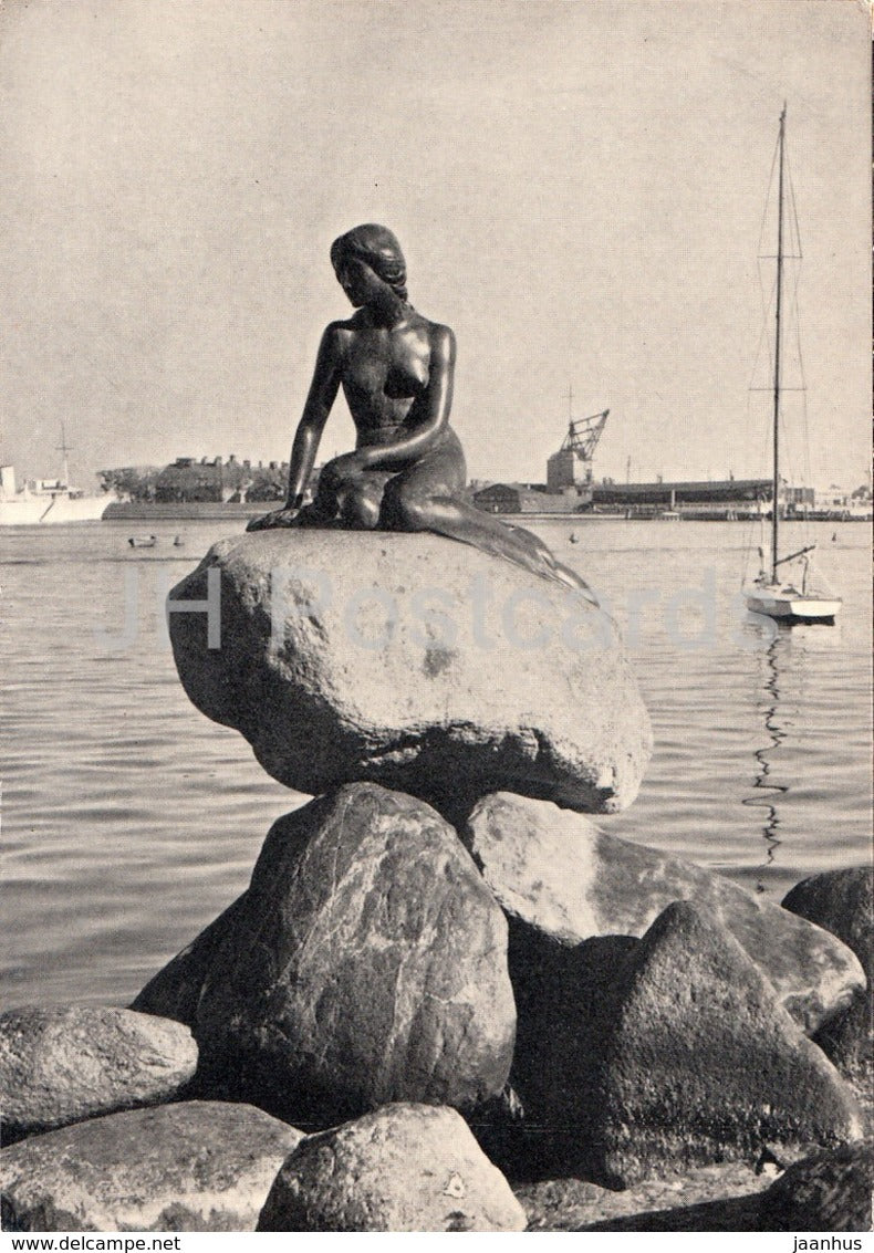 Copenhagen - The Little Mermaid - sculpture - 123 - Denmark - unused - JH Postcards