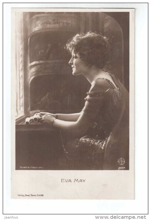 Austrian movie actress - Eva May - 269/6 - cinema - circulated in Estonia 1928 - Germany - used - JH Postcards