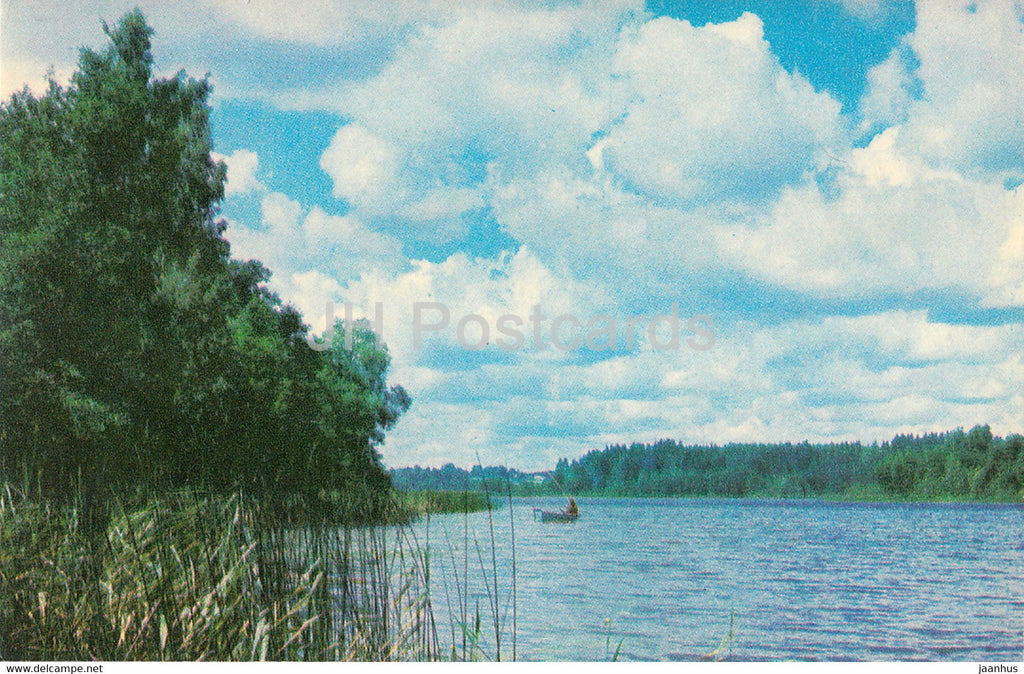 The Gauja National Park - Vaidavas Lake - 1976 - Latvia USSR - unused - JH Postcards