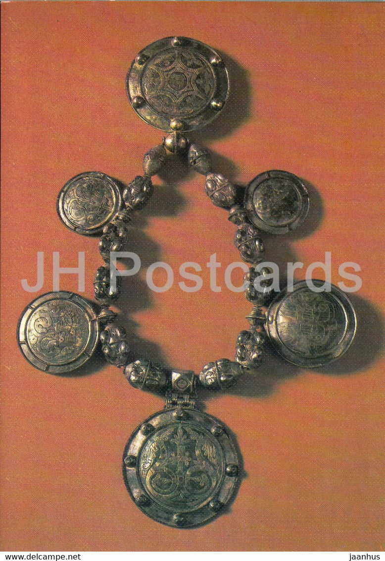 Necklace of beads - Suzdal - Russian Silver Craft - art - 1986 - Russia USSR - used - JH Postcards
